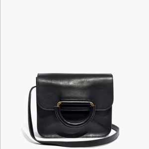MADEWELL The Holland Shoulder Bag in Leather Black